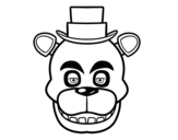 Disegno di Faccia di Freddy di Five Nights at Freddy's da colorare