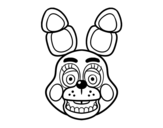 Disegno di Faccia di Toy Bonni di Five Nights at Freddy's da colorare