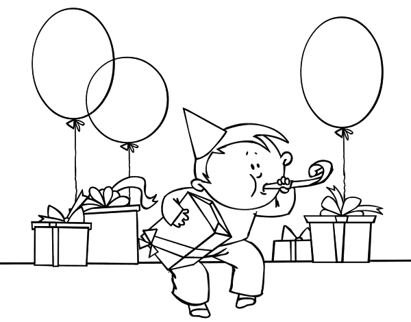 Disegno Di Festa Di Compleanno Da Colorare Acolore Com