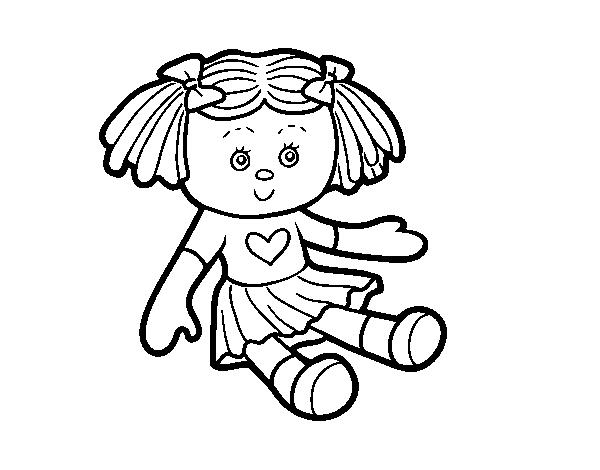 Bambola Da Colorare.Disegno Di Giocattolo Bambola Da Colorare Acolore Com