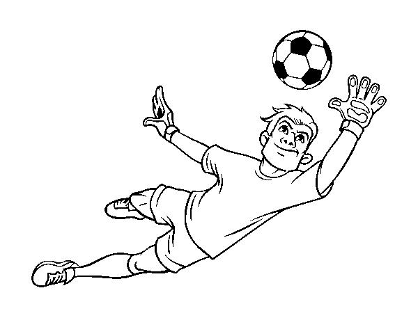 Disegno Di Il Portiere Di Calcio Da Colorare Acolorecom