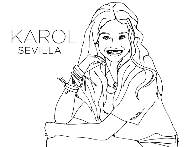 Disegno Di Karol Sevilla Di Soy Luna Da Colorare Acolore Com