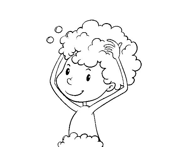 Disegno Bagno Da Colorare : Disegno di lavare i capelli da colorare acolore