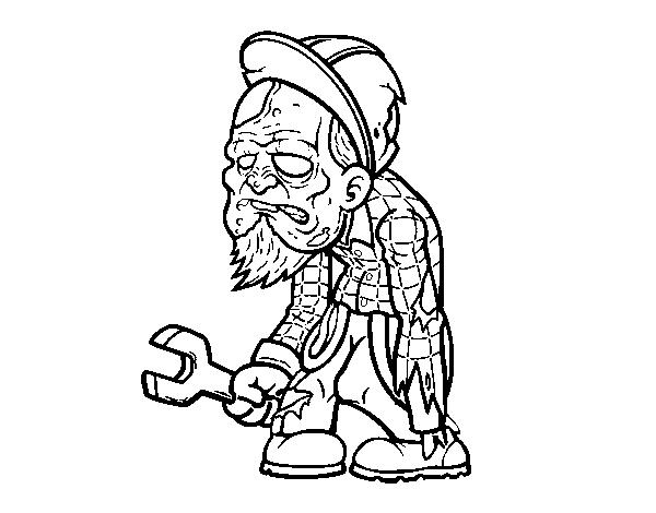 Disegno Di Lavoratore Zombie Da Colorare Acolore Com