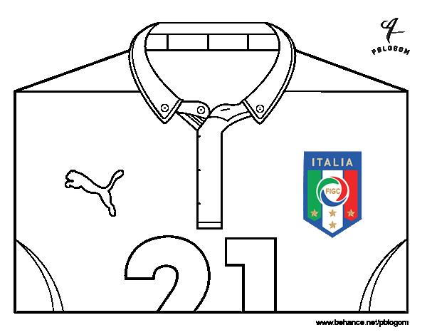 Disegno Di Maglia Dei Mondiali Di Calcio 2014 Dellitalia Da