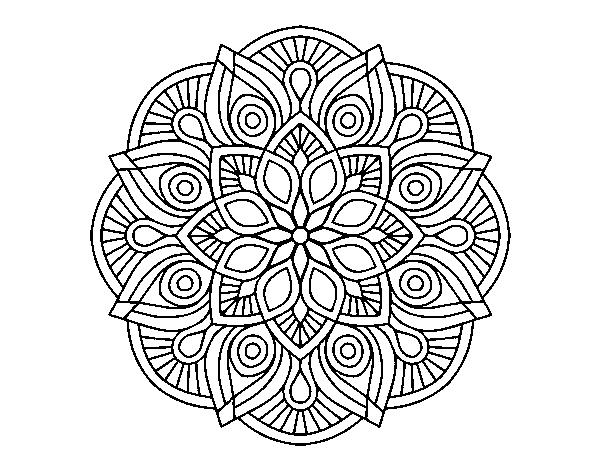 Disegno Di Mandala Alhambra Da Colorare Acolore Com