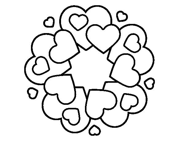 Disegno Di Mandala Con Cuori Da Colorare Acolorecom