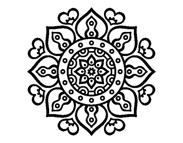 Disegno Di Mandala Cuori Arabi Da Colorare Acolorecom