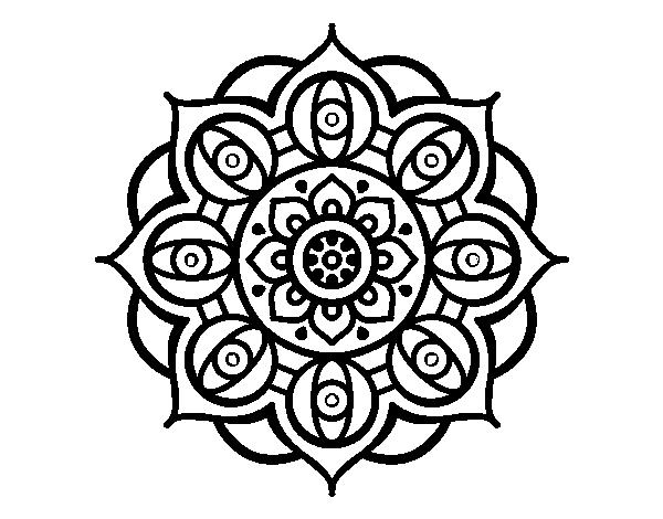 Disegno Di Mandala Dagli Occhi Da Colorare Acolorecom