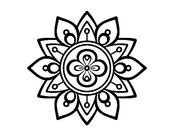 Disegno Di Mandala Fior Di Loto Da Colorare Acolore Com