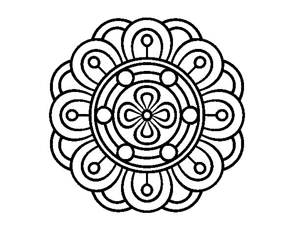 Disegno Di Mandala Fiore Creativo Da Colorare Acolorecom