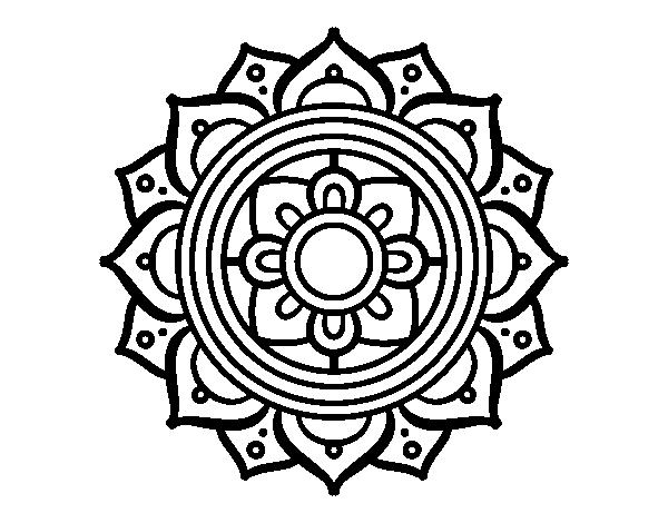 Disegno Di Mandala Mosaico Greco Da Colorare Acolorecom