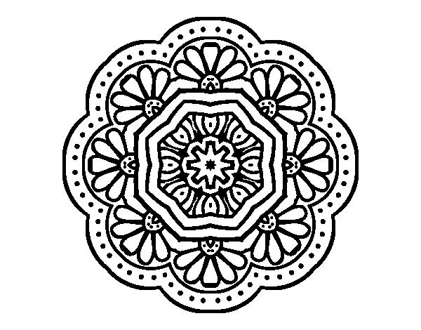 Disegno Di Mandala Mosaico Modernista Da Colorare Acolore Com