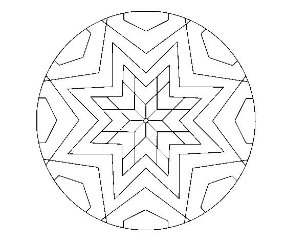 Disegno Di Mandala Mosaico Stelle Da Colorare Acolore Com