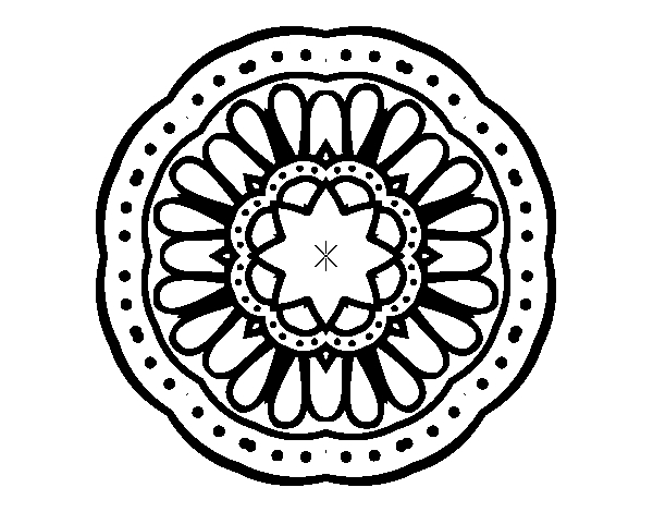 Disegno Di Mandala Mosaico Da Colorare Acolore Com