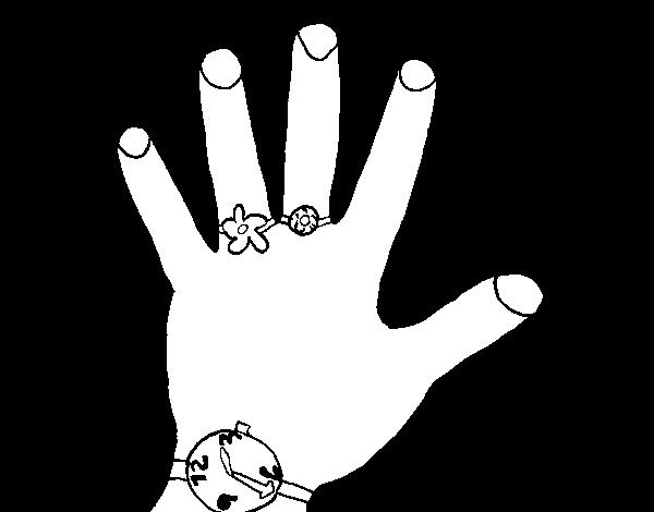 Disegno Di Mano Con Accessori Da Colorare Acolorecom