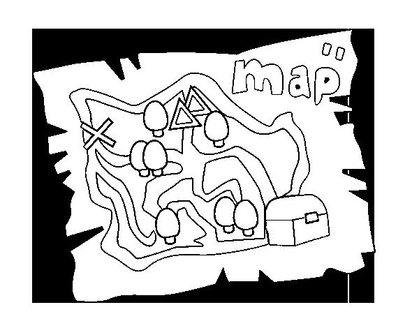 Disegno Di Mappa Del Tesoro Da Colorare Acolore Com
