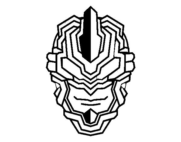 selezione premium originale più votato stile moderno Disegno di Maschera robot da Colorare - Acolore.com
