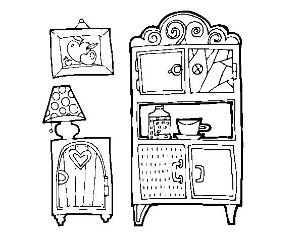 Disegno di mobili soggiorno da colorare for Disegni mobili casa