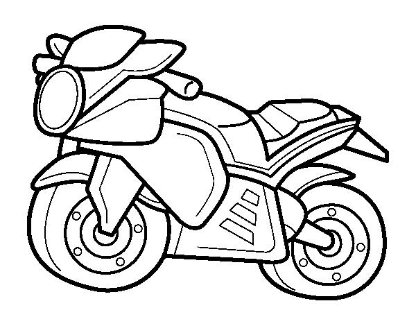 Disegno Di Moto Dello Sport Da Colorare Acolore Com