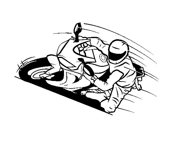 Disegno Di Motocicletta Gp Da Colorare Acolorecom