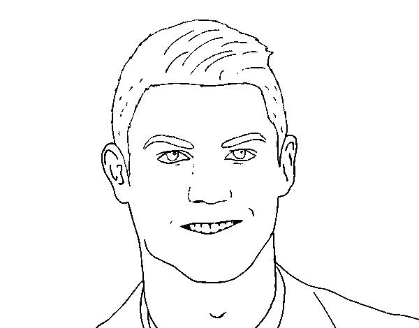Disegno Di Muso Di Cristiano Ronaldo Da Colorare Acolorecom