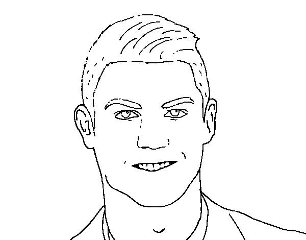 Disegno Di Muso Di Cristiano Ronaldo Da Colorare Acolore Com