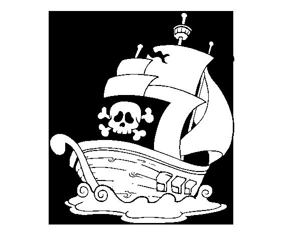 Disegno Di Nave Dei Pirati Da Colorare Acolorecom