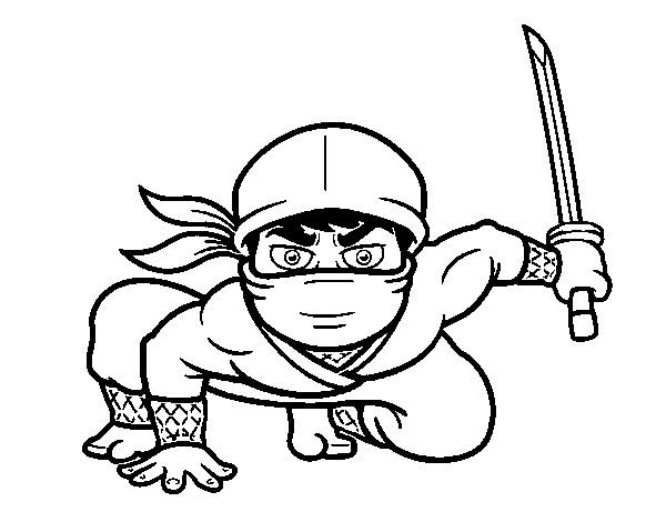 Disegno Di Ninja Giapponese Da Colorare Acolore Com