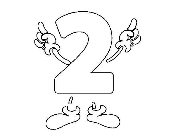 Disegno Di Numero 2 Da Colorare Acolorecom