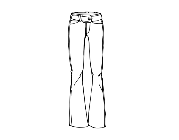 Disegno Di Pantaloni A Zampa Di Elefante Da Colorare Acolorecom