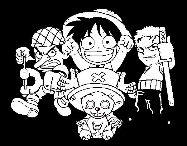 Disegno Di Personaggi One Piece Da Colorare Acolorecom