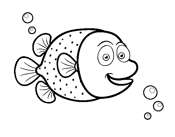 Disegno Di Pesci Palla Di Puntini Bianchi Da Colorare Acolorecom
