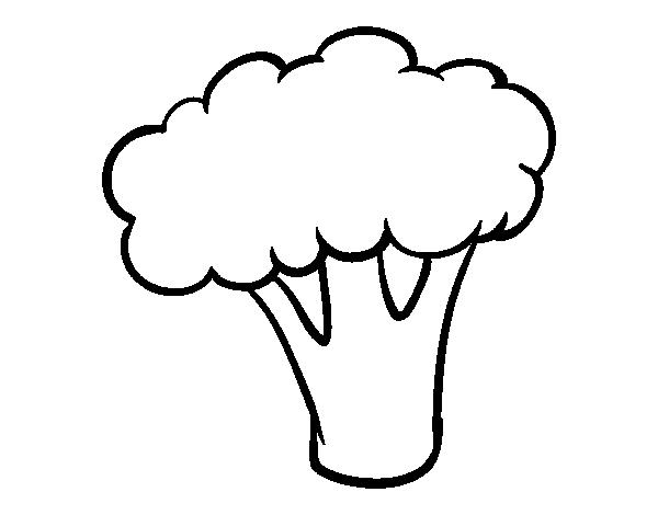 Disegno Di Pezzo Di Broccoli Da Colorare Acolore Com
