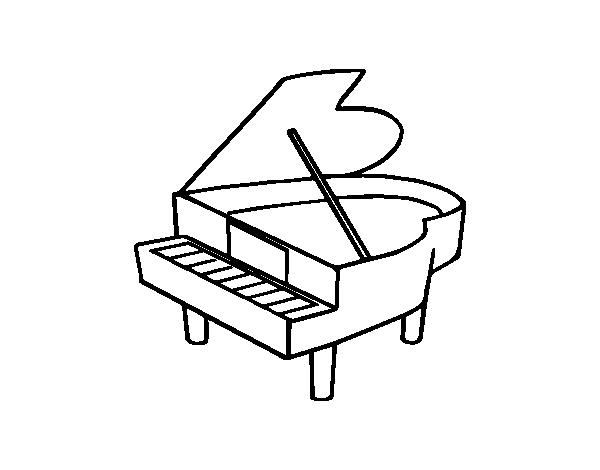 Disegno Pianoforte Da Colorare.Disegno Di Pianoforte A Coda Aperto Da Colorare Acolore Com