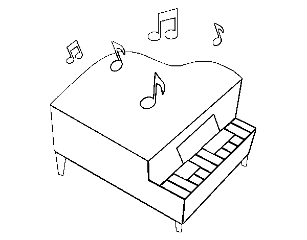 Disegno Pianoforte Da Colorare.Disegno Di Pianoforte A Coda Da Colorare Acolore Com