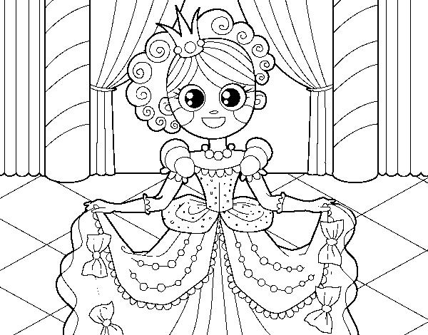 Disegno Di Principessa Al Ballo Da Colorare Acolorecom