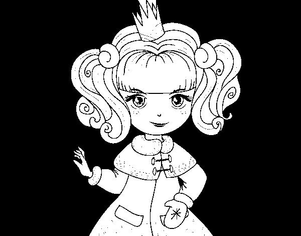 Disegno Di Principessa Dinverno Da Colorare Acolorecom