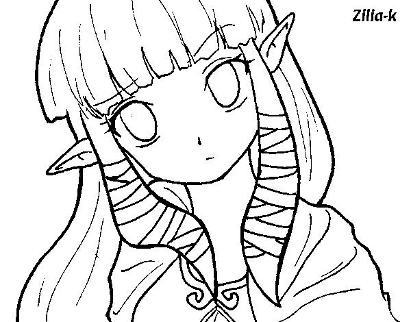 Disegno Di Principessa Zelda Da Colorare Acolorecom