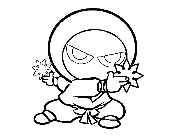 Disegno Di Ragazzo Ninja Da Colorare Acolore Com