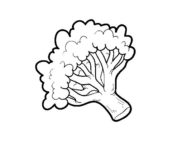 Disegno Di Ramo Di Broccoli Da Colorare Acolore Com