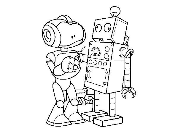 Robot Disegni Da Colorare.Disegno Di Robot Che Organizza Robot Da Colorare Acolore Com