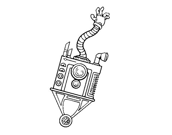 Disegno Di Robot Mano Da Colorare Acolorecom