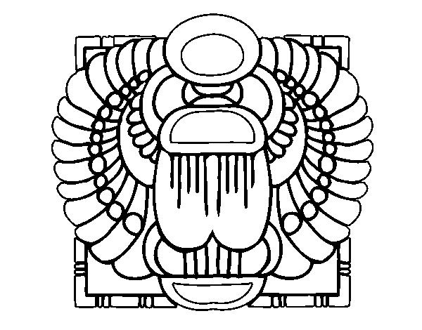 Disegno Di Scarabeo Sacro Da Colorare Acolorecom