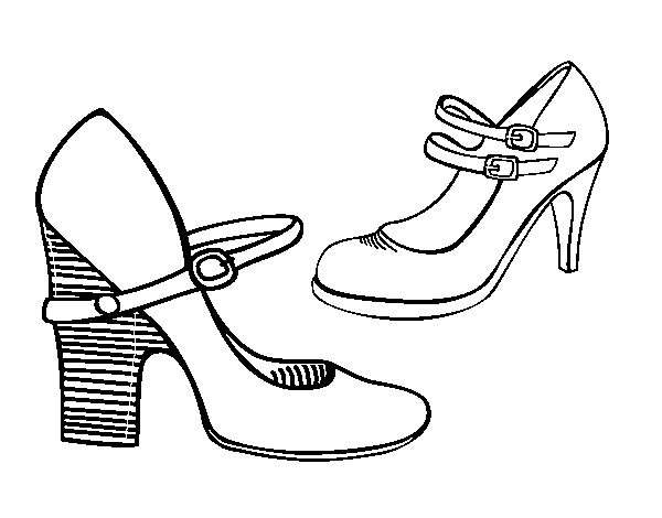 Disegno Di Scarpe Con Tacco Da Colorare Acolorecom