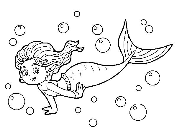 Disegno Di Sirena Del Mare Da Colorare Acolore Com