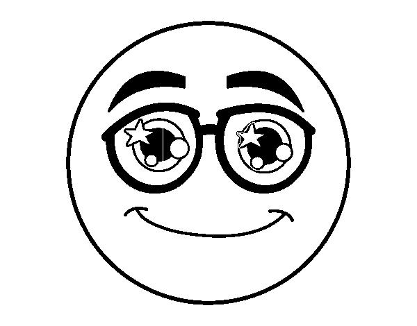 Disegno Di Smiley Con Gli Occhiali Da Colorare Acolorecom