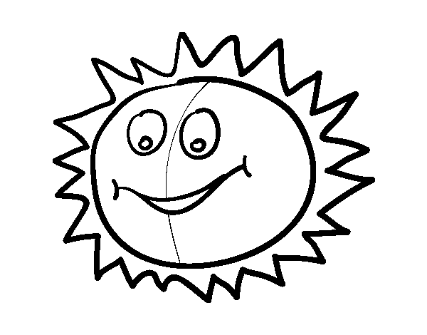 Disegno Di Sole Felice Da Colorare Acolorecom