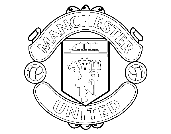 disegno di stemma del manchester united fc da colorare acolore com stemma del manchester united fc
