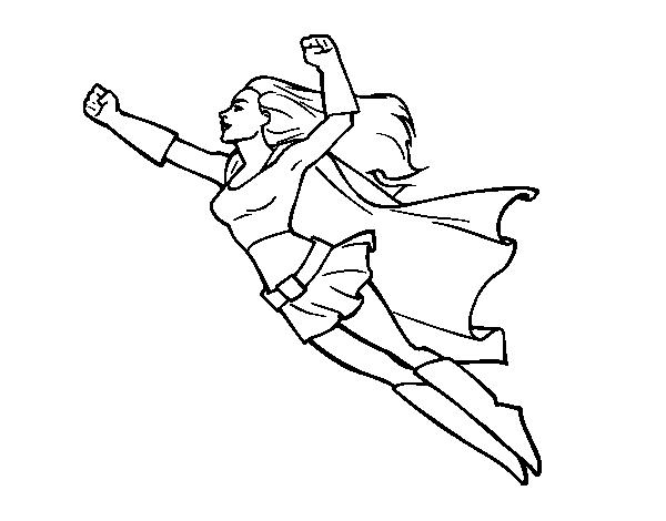 Disegno Di Super Girl Volante Da Colorare Acolore Com